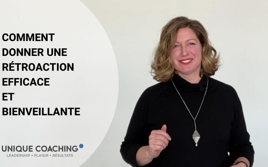 Donner une retroaction efficace et bienveillante - Unique coaching