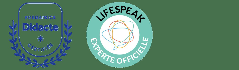 Logo didacte + lifespeak - unique coaching - Geneviève Dicaire